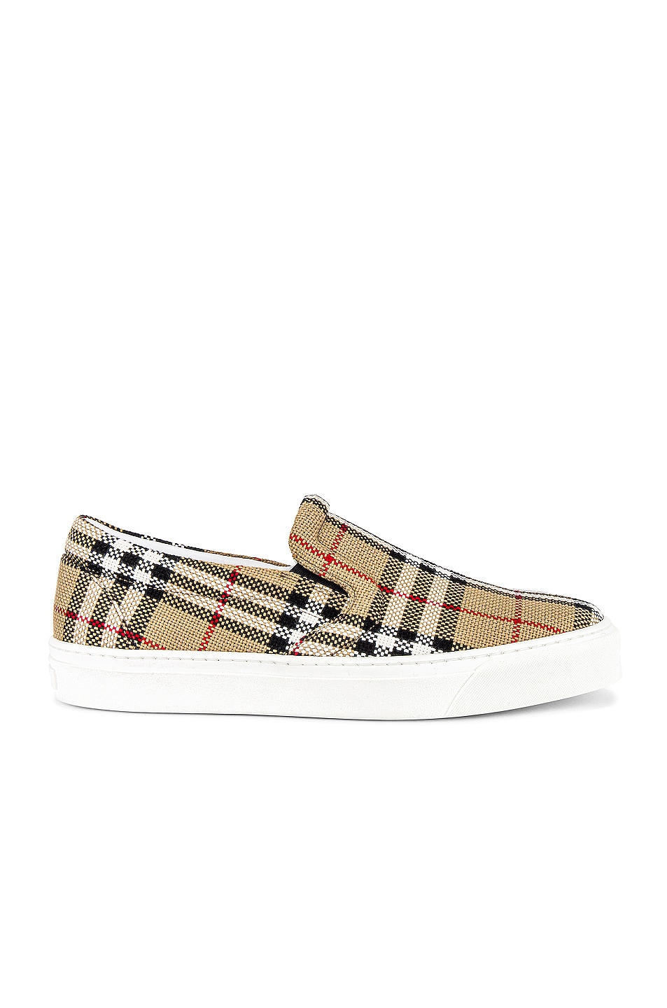 Image 1 of Burberry Thompson M Check Slip On Sneaker in Archive Beige