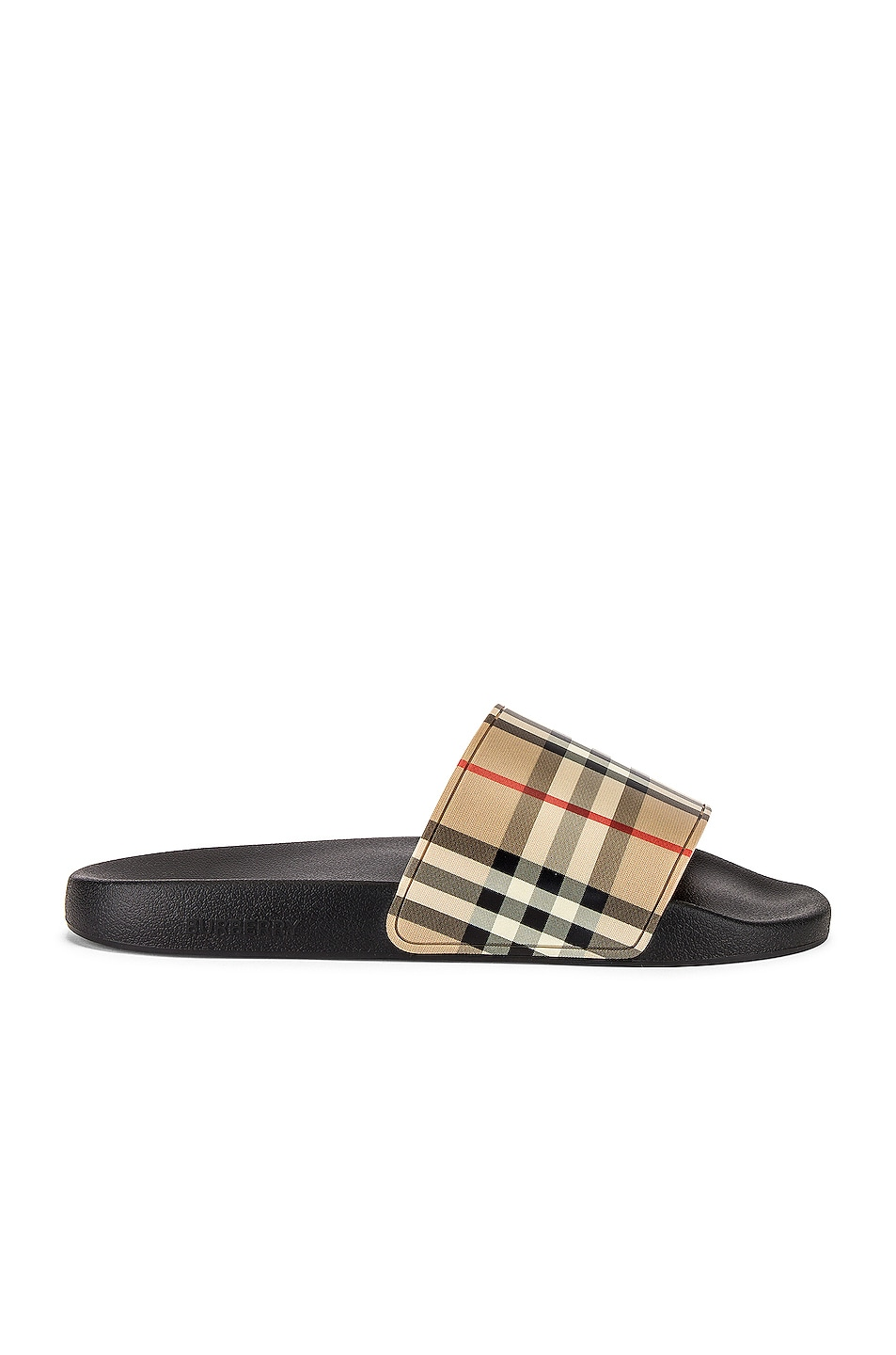 Image 1 of Burberry Furley M Check Slide in Archive Beige