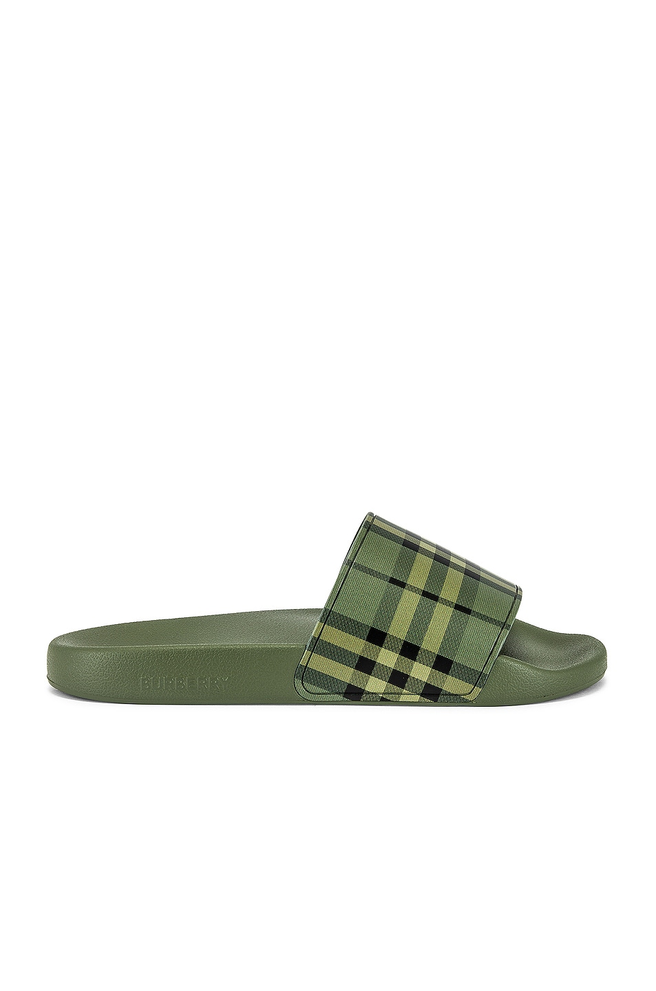Image 1 of Burberry Furley Slide Sandal in Military Green