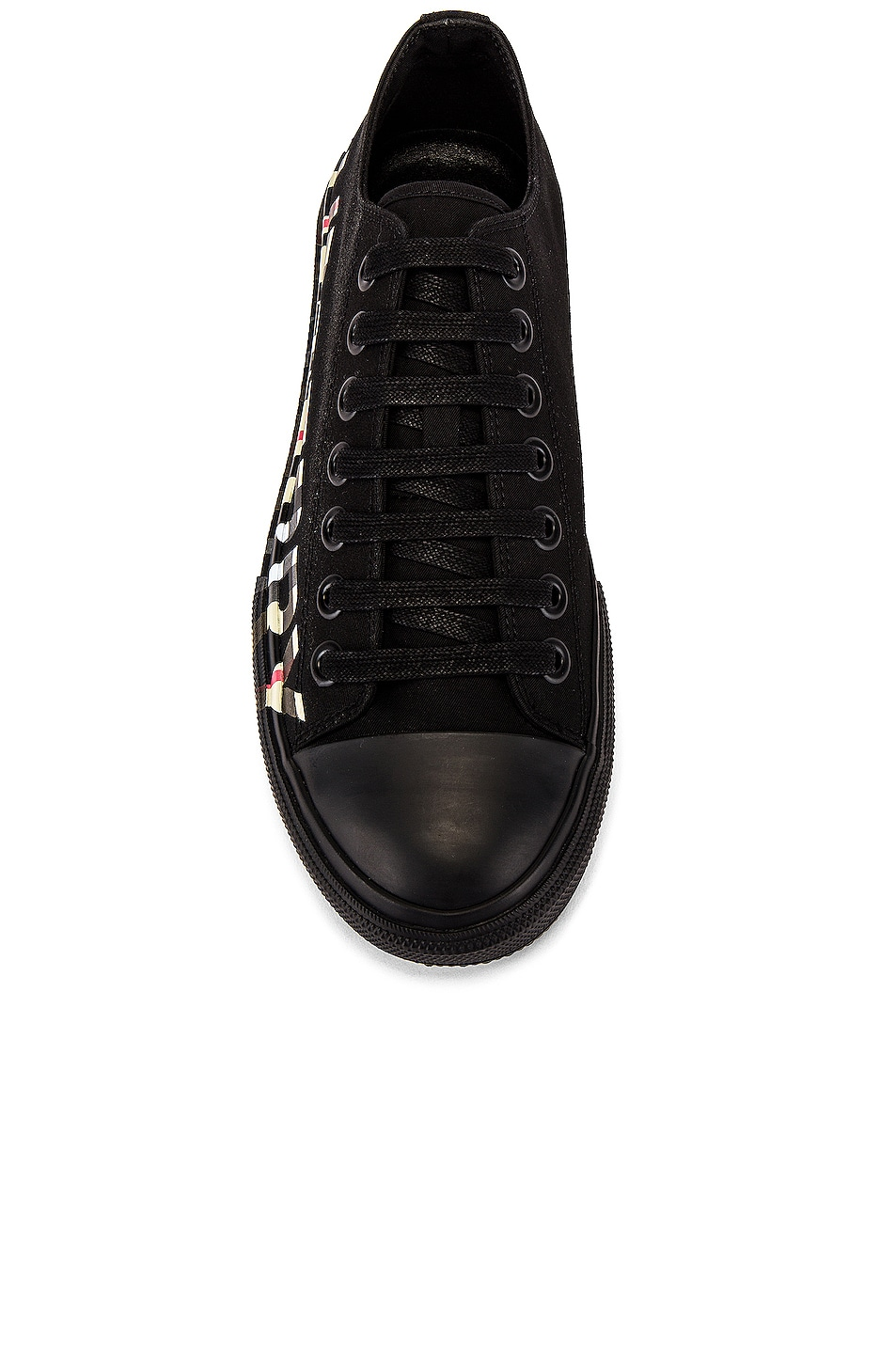 Image 4 of Burberry Larkhall M Logo DK Sneaker in Black & Archive Beige