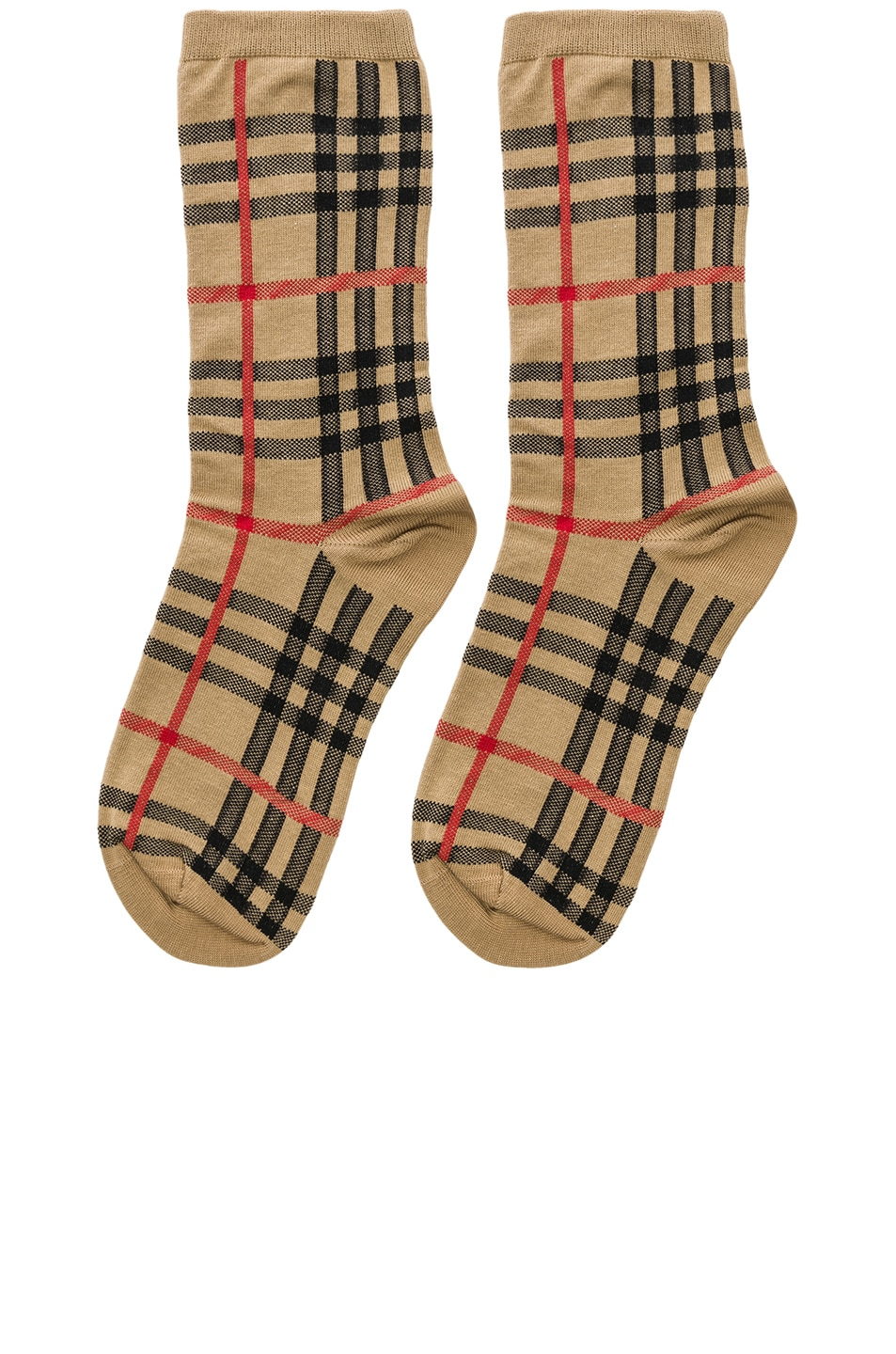 Image 1 of Burberry Vintage Check Socks in Antique Yellow