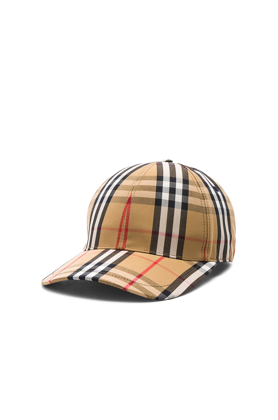 Image 2 of Burberry Vintage Check Baseball Cap in Antique Yellow Check
