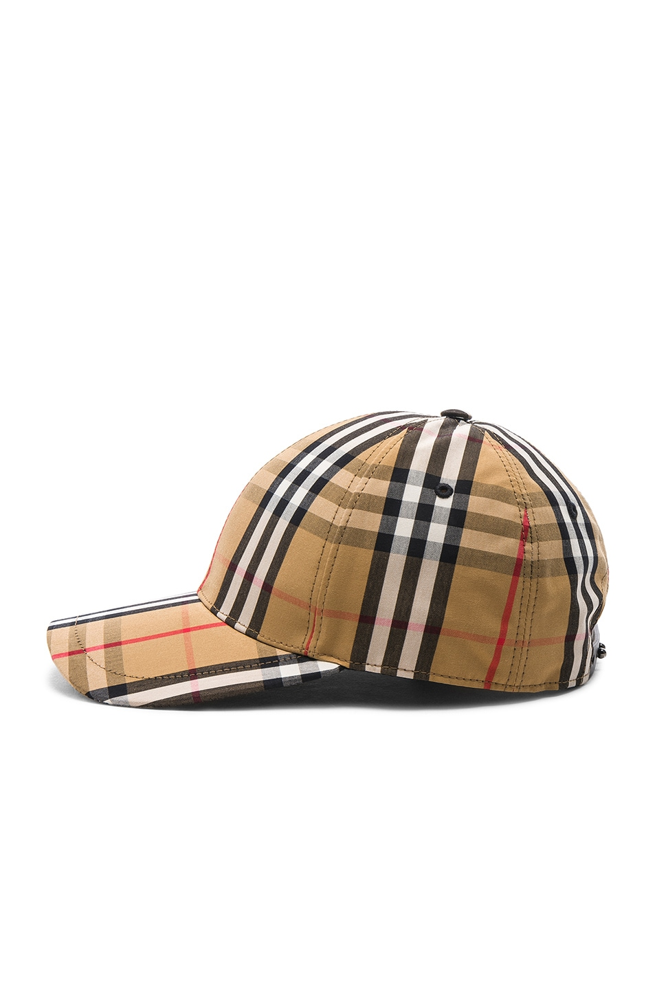 Image 3 of Burberry Vintage Check Baseball Cap in Antique Yellow Check