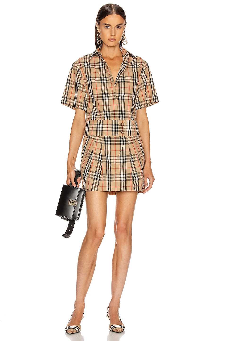 Image 1 of Burberry Jayniie Dress in Archive Beige