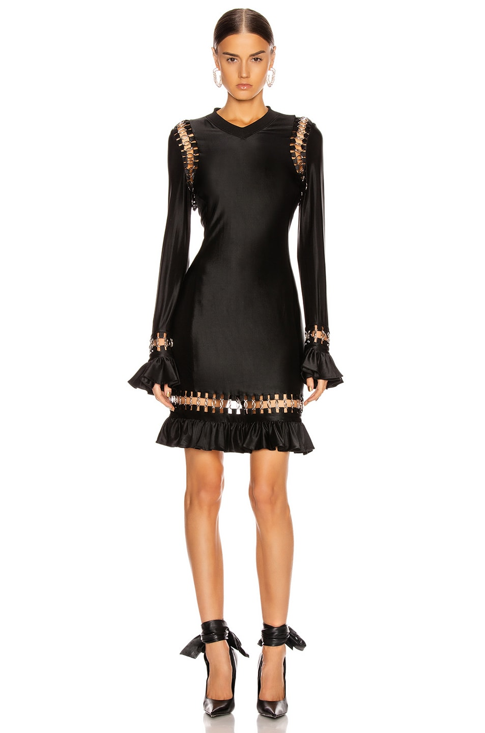 Image 1 of Burberry Ring Frill Dress in Black