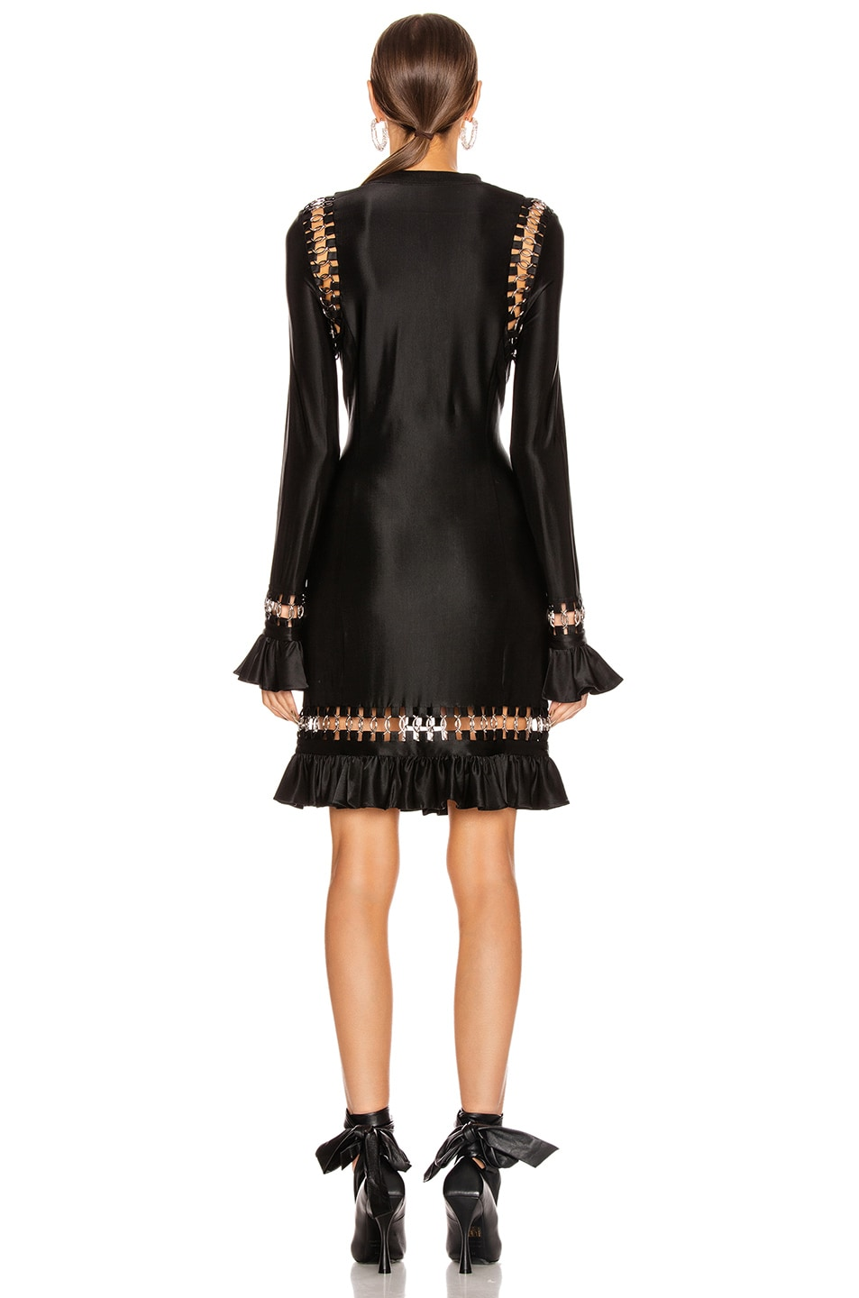 Image 3 of Burberry Ring Frill Dress in Black