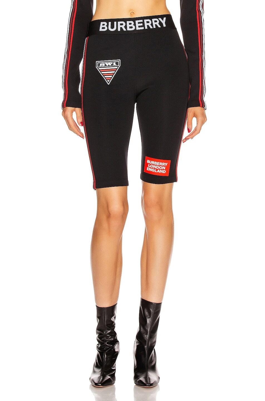 Image 2 of Burberry Sesia Biker Short in Black