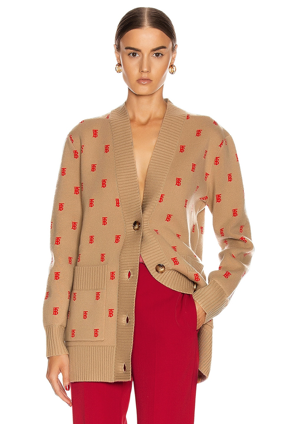 Image 1 of Burberry Palena Cardigan in Archive Beige