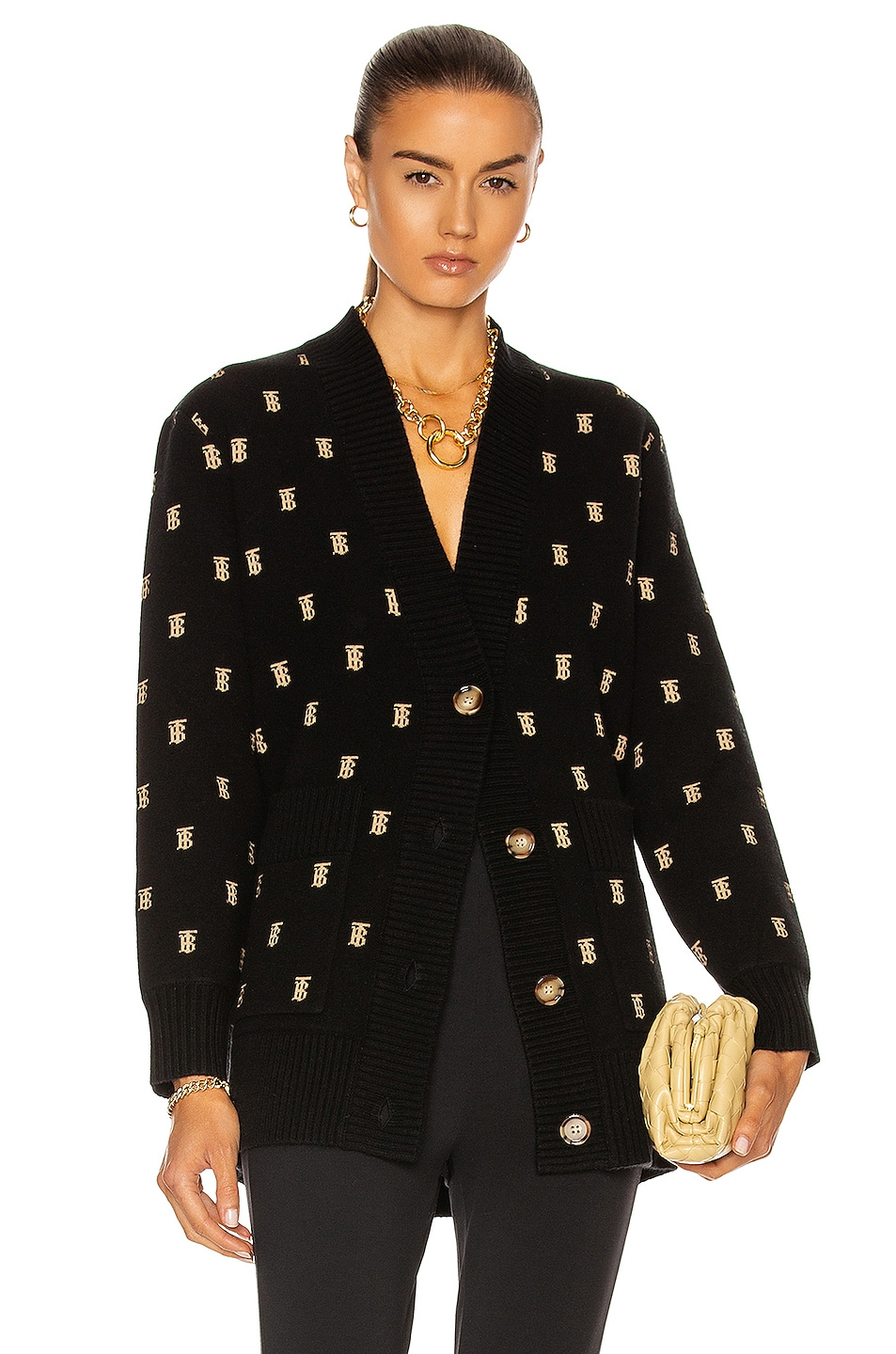 Image 1 of Burberry Palena Cardigan in Black