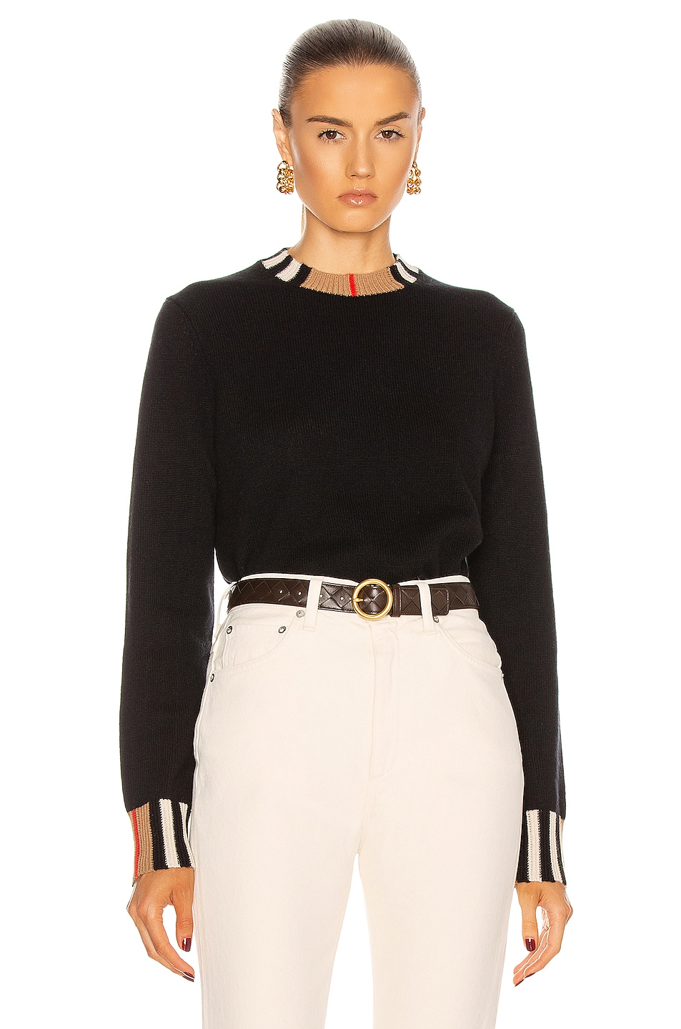 Image 1 of Burberry Eyre Sweater in Black