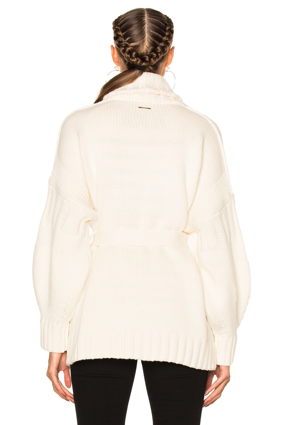 Burberry Cotton Cashmere Cardigan in Natural White | FWRD