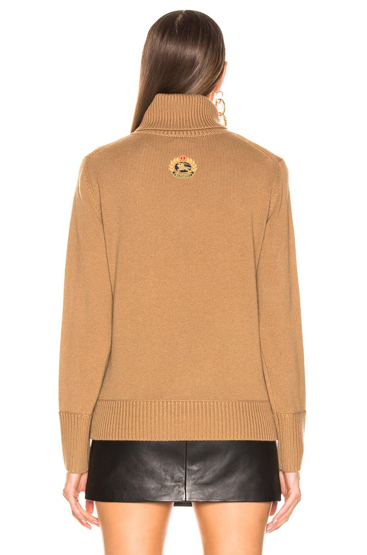 Image 3 of Burberry Lockeridge Sweater in Camel