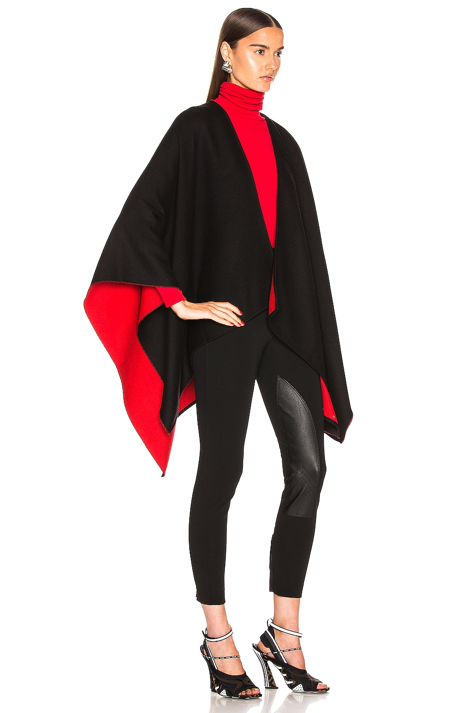 Image 3 of Burberry Logo Cape in Black