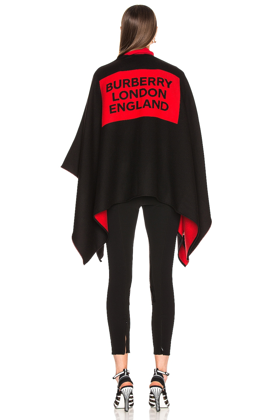 Image 4 of Burberry Logo Cape in Black