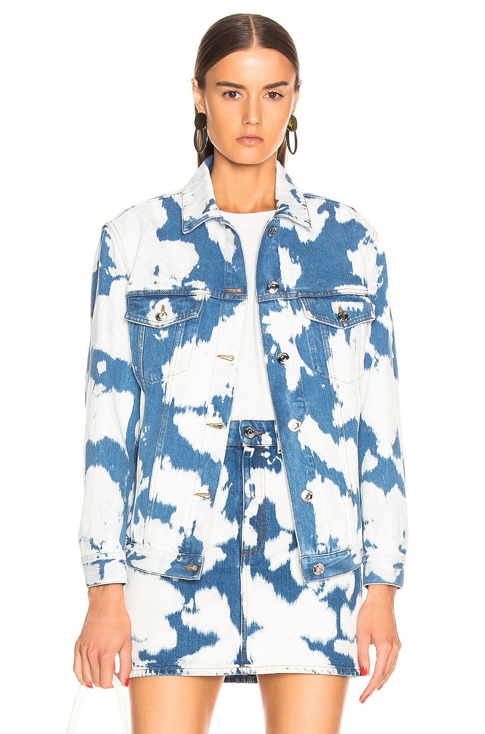 Image 1 of Burberry Punk Bleach Boyfriend Denim Jacket in Blue