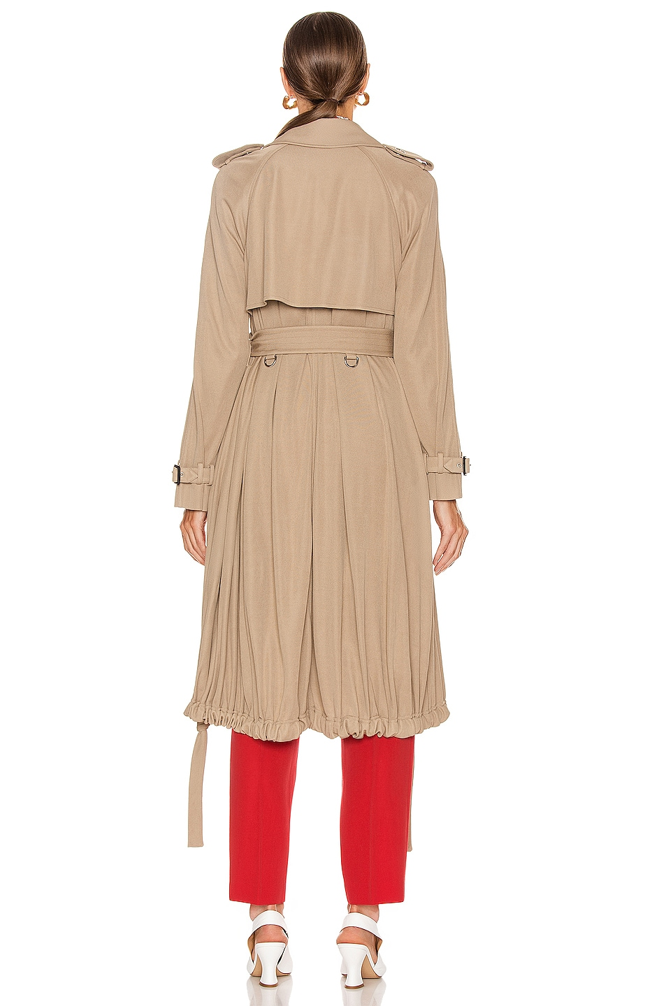 Image 4 of Burberry Cyla Wrap Coat in Warm Taupe