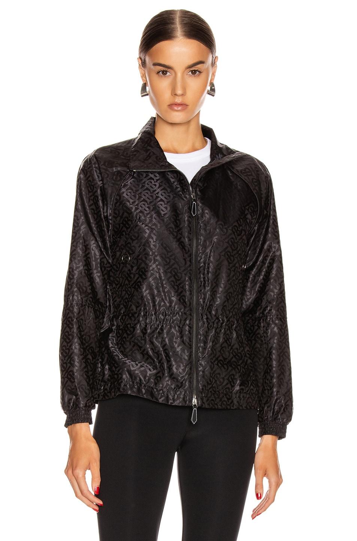 Image 2 of Burberry Nylon Jacket in Black
