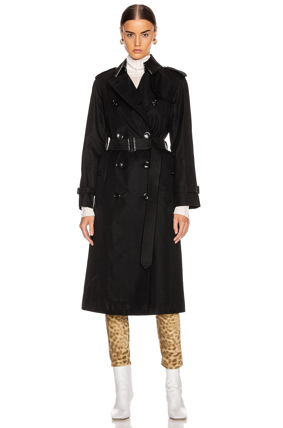 Image 2 of Burberry Heritage Refresh Slim Westminster Trench Jacket in Black
