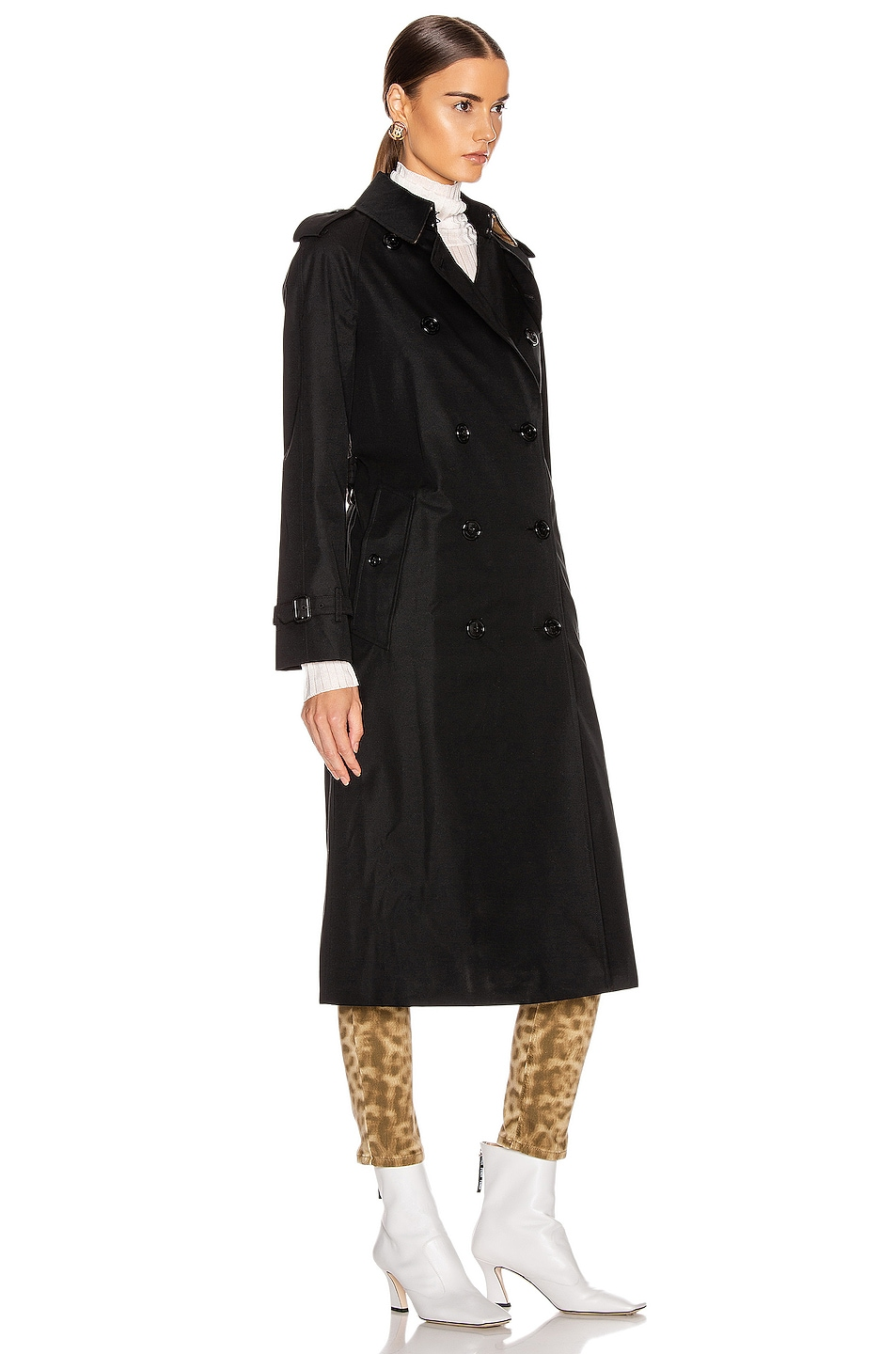 Image 3 of Burberry Heritage Refresh Slim Westminster Trench Jacket in Black
