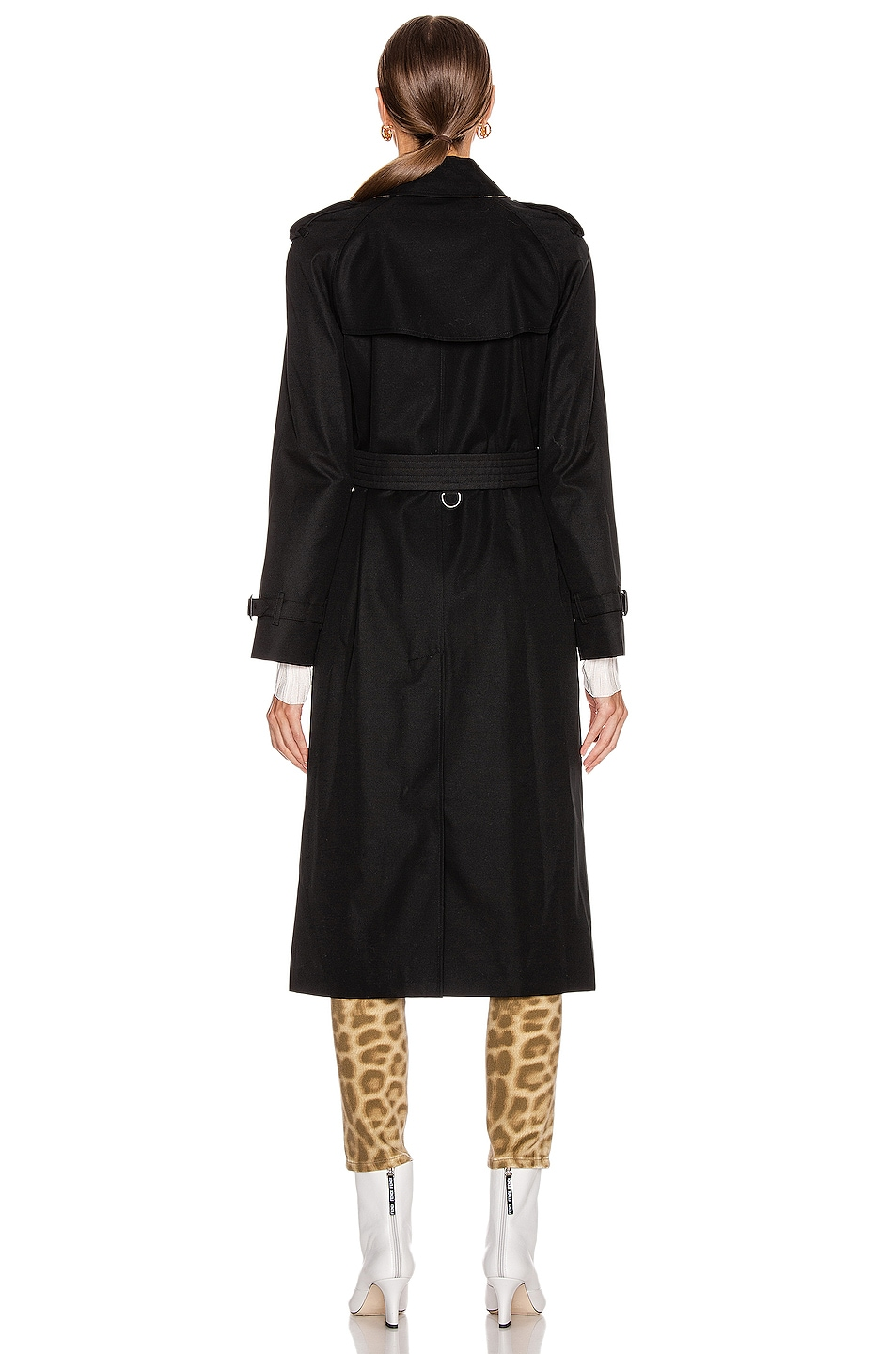 Image 4 of Burberry Heritage Refresh Slim Westminster Trench Jacket in Black
