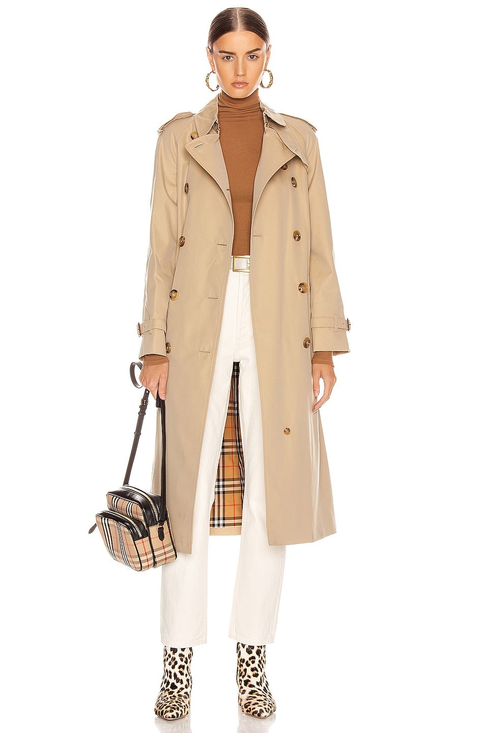 Image 1 of Burberry Heritage Refresh Slim Westminster Trench Jacket in Honey