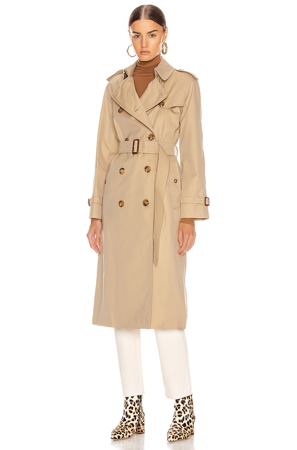 Image 2 of Burberry Heritage Refresh Slim Westminster Trench Jacket in Honey