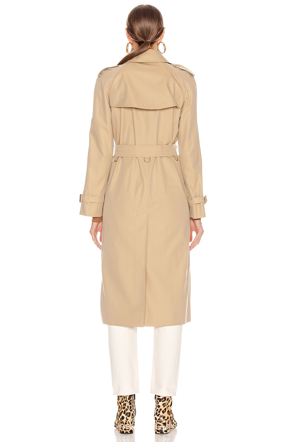 Image 4 of Burberry Heritage Refresh Slim Westminster Trench Jacket in Honey
