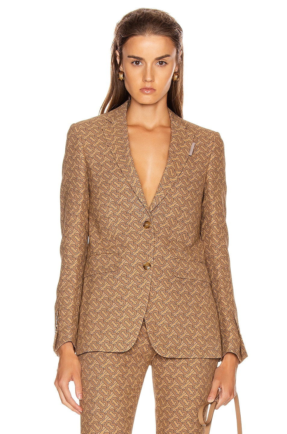 Image 1 of Burberry Surrey Tailored Jacket in Tawny