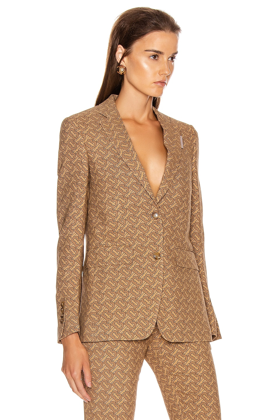 Image 2 of Burberry Surrey Tailored Jacket in Tawny