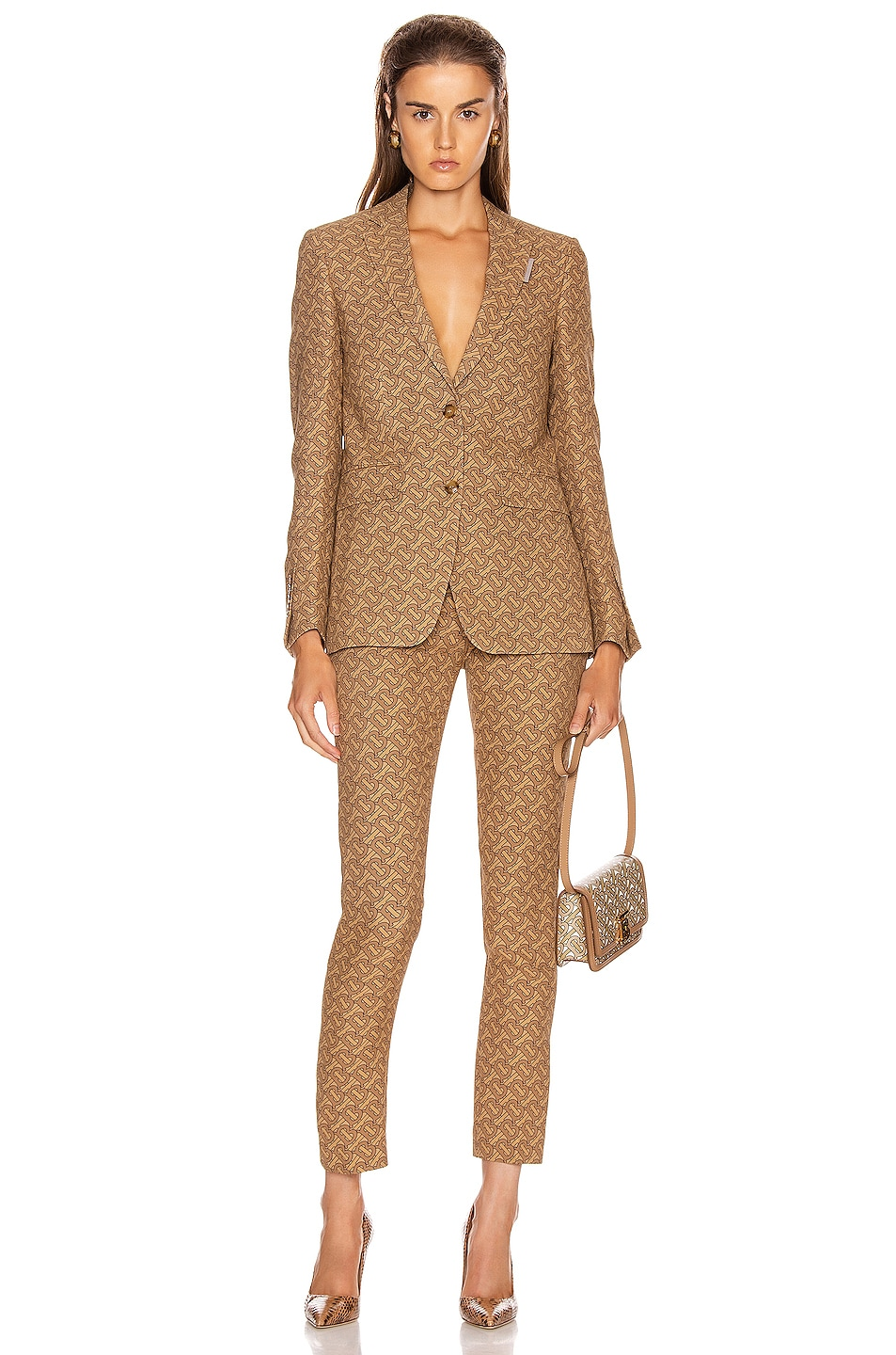 Image 4 of Burberry Surrey Tailored Jacket in Tawny