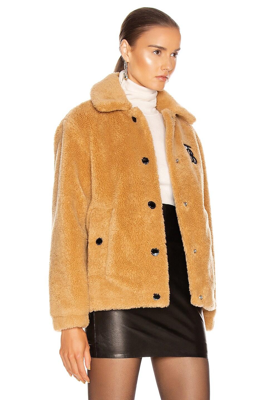Image 3 of Burberry Fleece Jacket in Camel