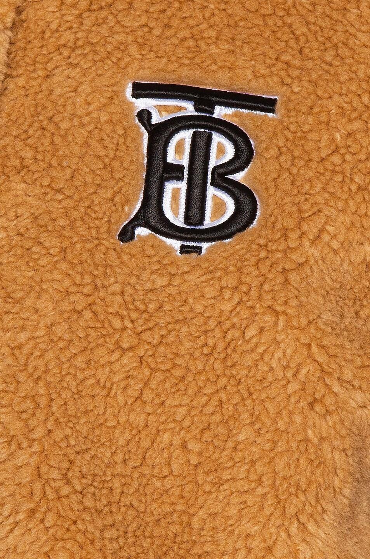 Image 7 of Burberry Fleece Jacket in Camel