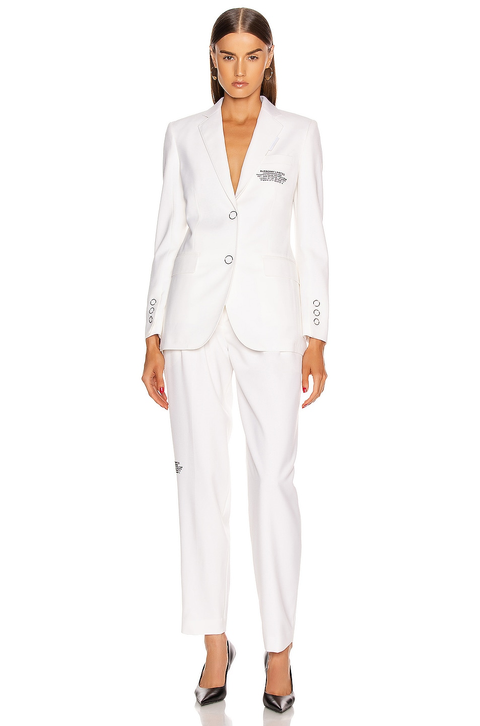 Image 4 of Burberry Sidon Tailored Blazer in Optic White