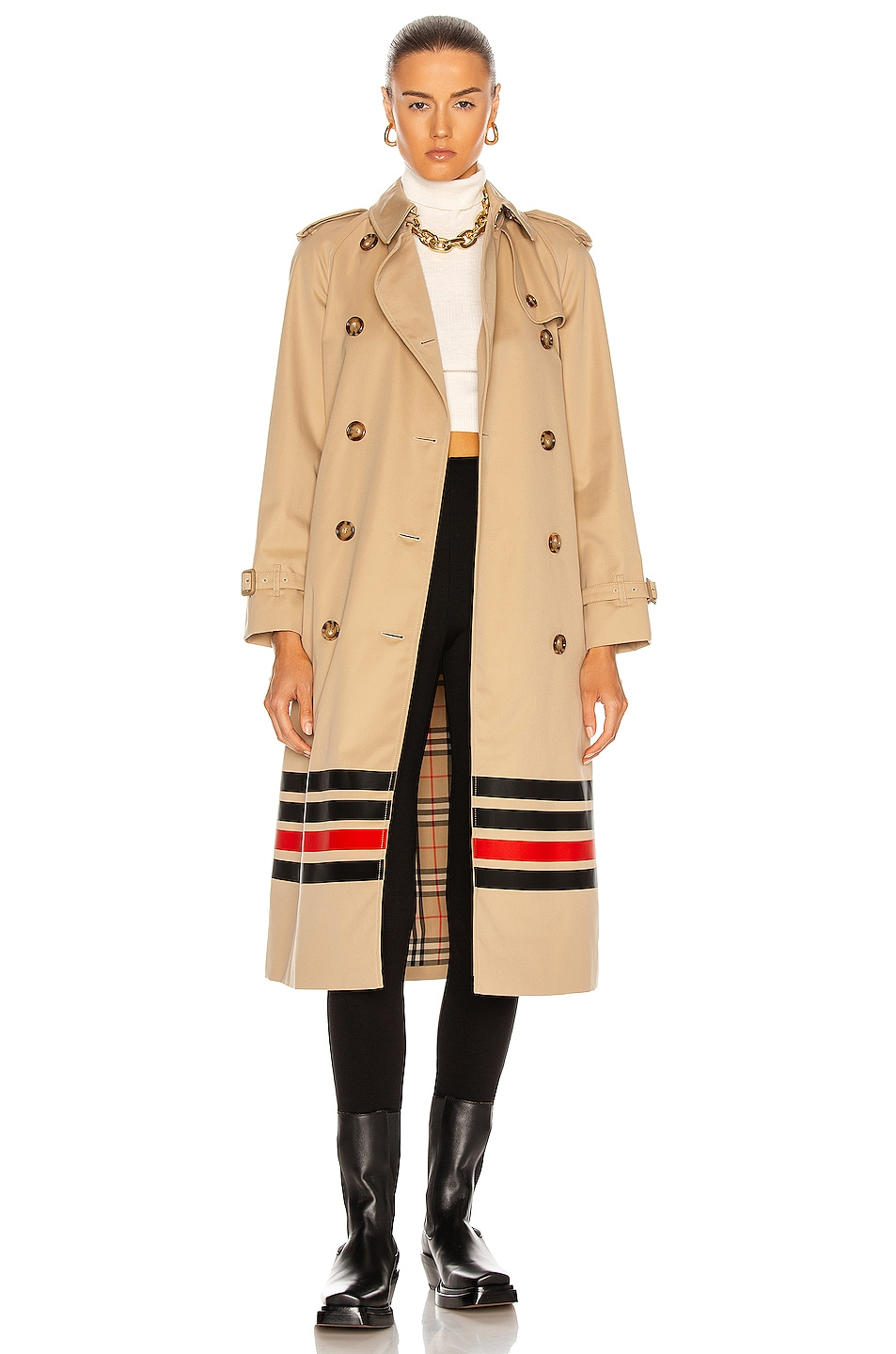 Image 1 of Burberry Waterloo Trench in Honey