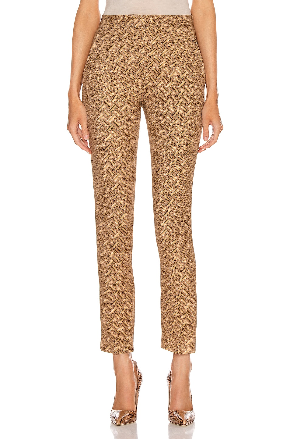 Image 1 of Burberry Hanover Pant in Tawny