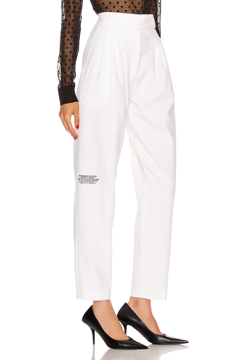 Image 1 of Burberry Marleigh Pant in Optic White