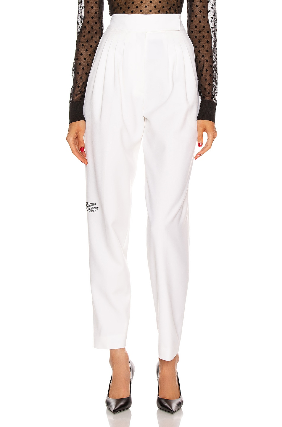 Image 2 of Burberry Marleigh Pant in Optic White
