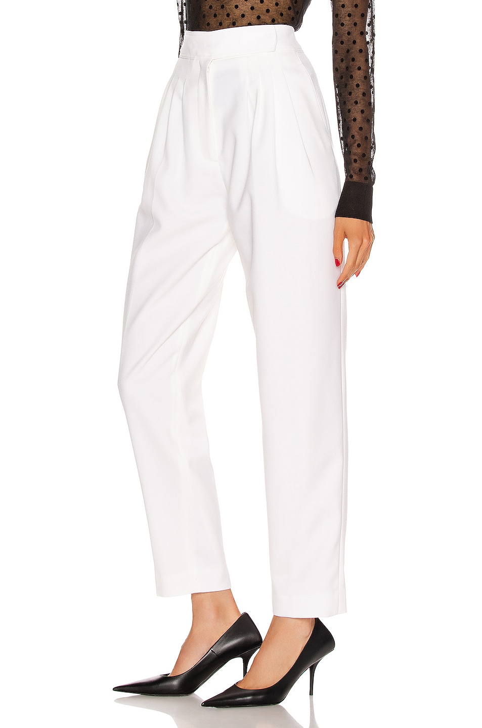Image 3 of Burberry Marleigh Pant in Optic White