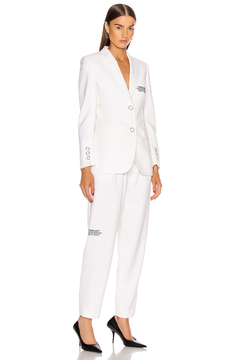 Image 5 of Burberry Marleigh Pant in Optic White