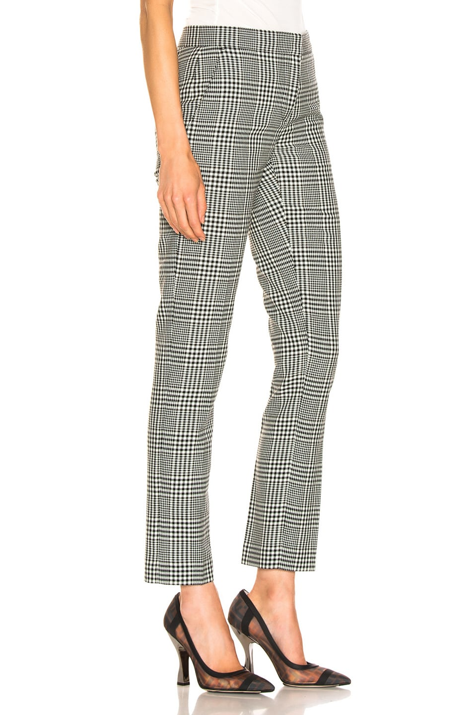 Image 2 of Burberry Hanover Pant in Mist Green Chalk