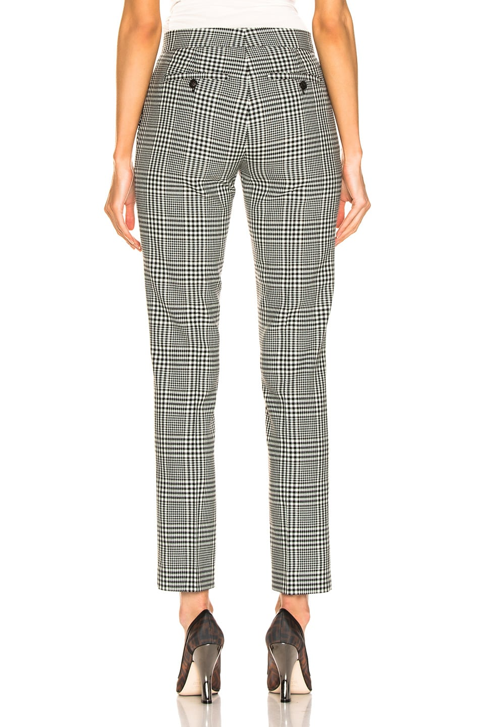 Image 3 of Burberry Hanover Pant in Mist Green Chalk