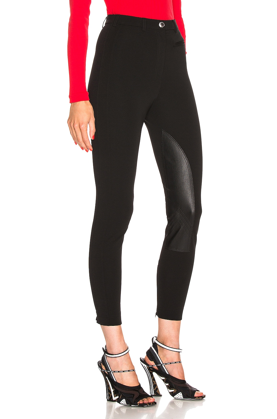 Image 2 of Burberry High Waisted Legging in Black