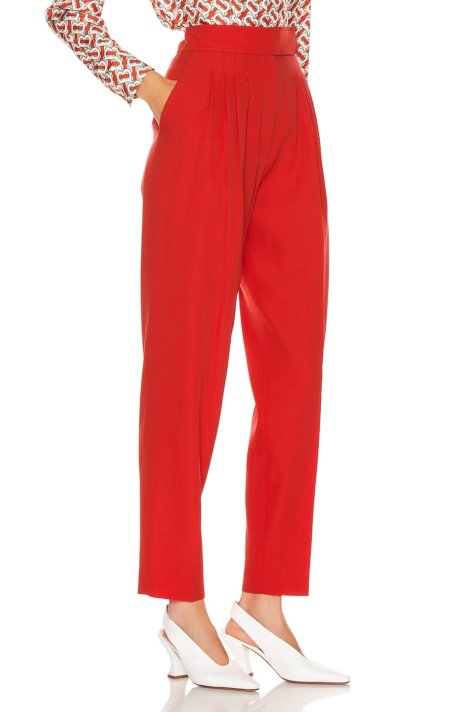 Image 2 of Burberry Marleigh Pant in Bright Red