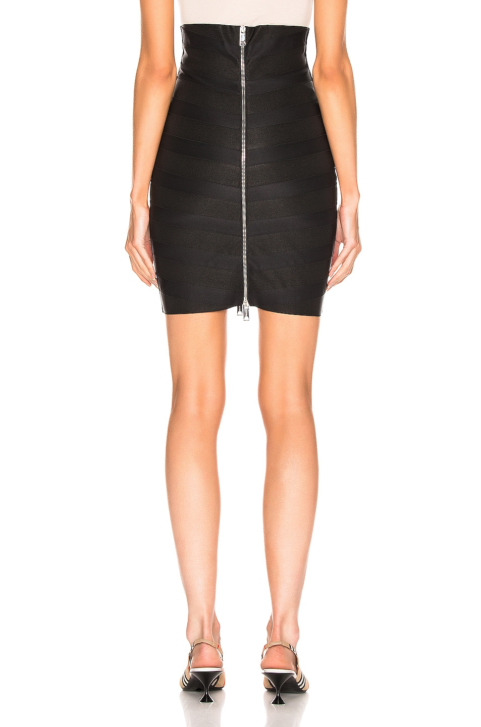 Image 3 of Burberry Bondage Skirt in Black