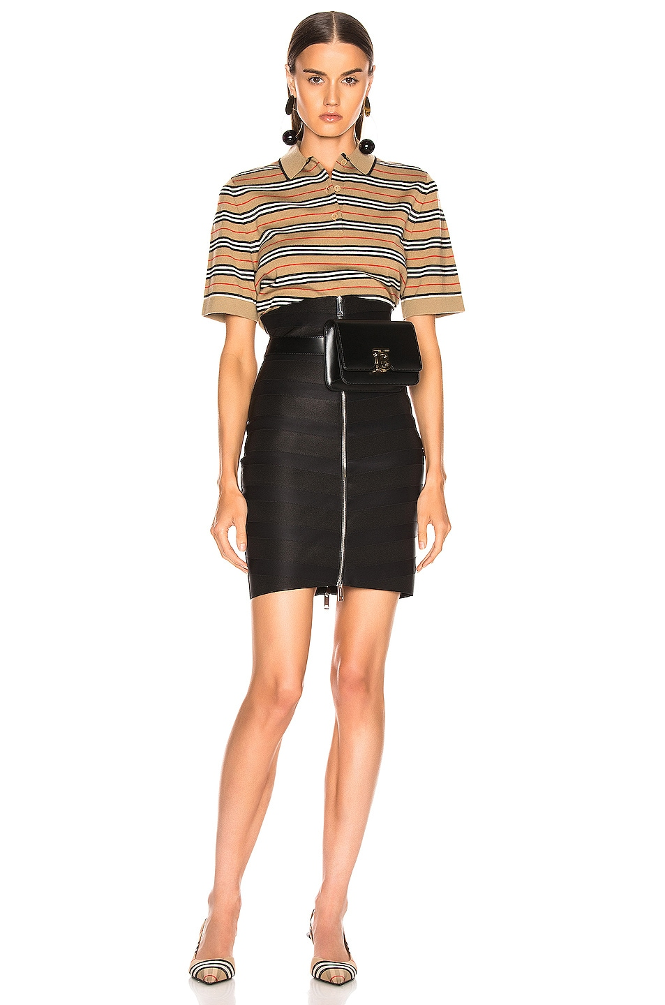 Image 4 of Burberry Bondage Skirt in Black