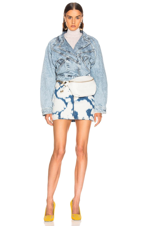Image 4 of Burberry Denim Mini Skirt in Blue