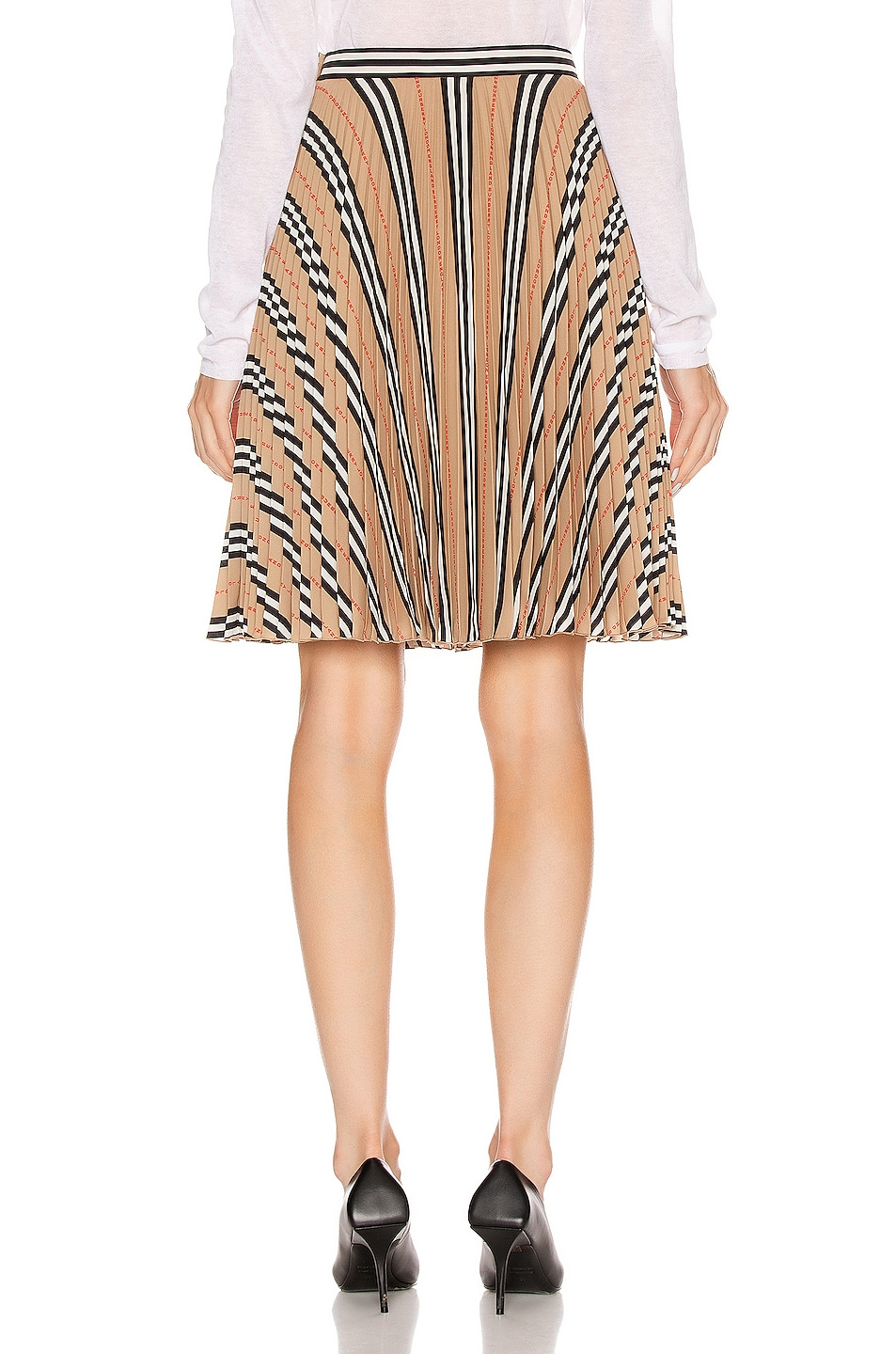 Image 3 of Burberry Midi Skirt in Archive Beige