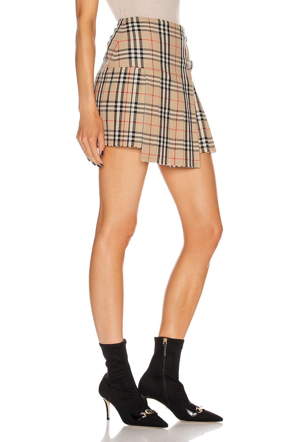 Image 2 of Burberry Mini Skirt in Archive Beige Check