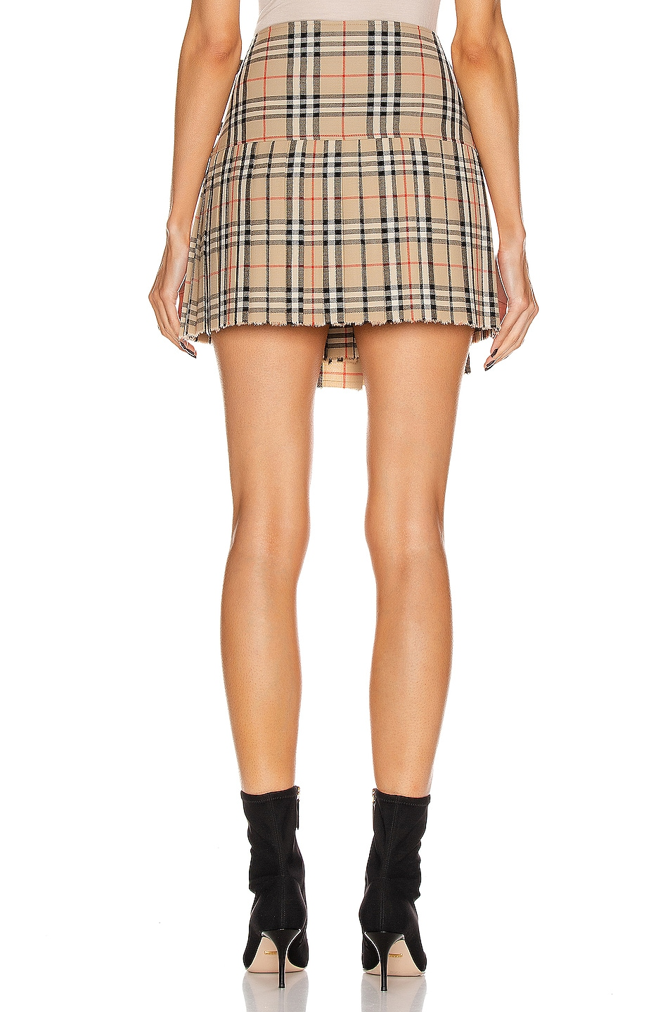 Image 4 of Burberry Mini Skirt in Archive Beige Check