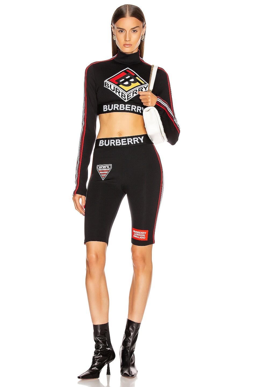 Image 5 of Burberry Soca Athletic Crop Top in Black